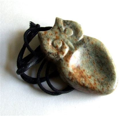 How To Carve Soapstone - owl worry jewelry carved soapstone pendant necklace
