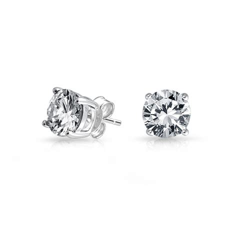 Stud Earring cz stud earrings 925 sterling silver