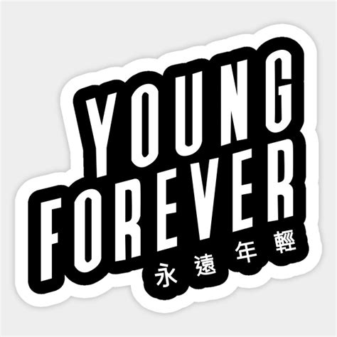 Boys Wall Art Stickers young forever bts black bts sticker teepublic
