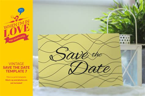 Vintage Save The Date Template 7 Invitation Templates On Creative Market Vintage Save The Date Templates