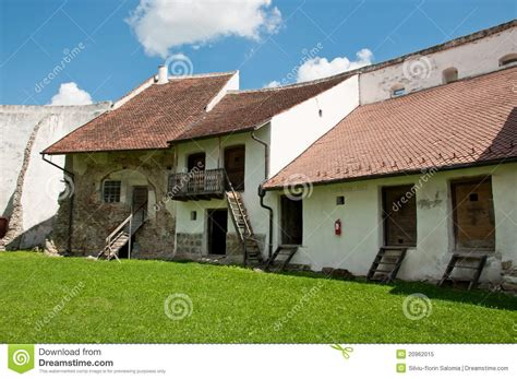 Building Plans Homes Free medieval homes inside a rural romanian fortress stock