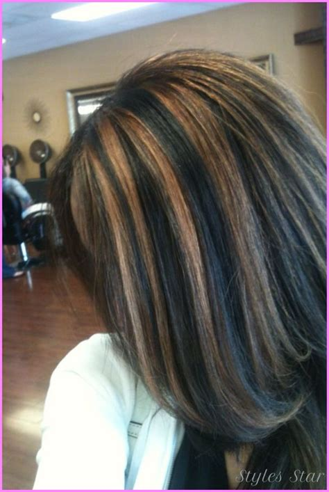 how to dye hair with black chunks nice black hair with caramel highlights pictures stars