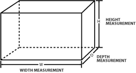 furniture dimensions length width height 3d how can i graphically represent width height and