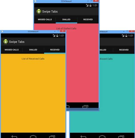 android layouts android tab layout with swipe views java tutorial