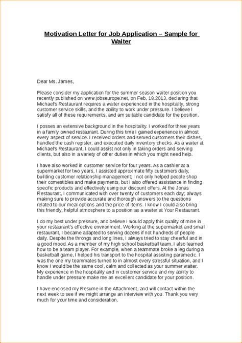 Motivation Letter For Application Exle A Motivational Letter Basic Appication Letter