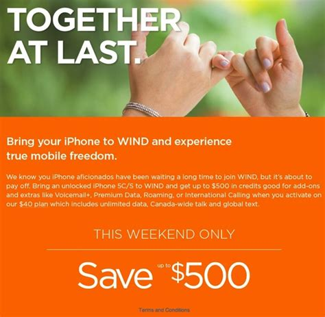 wind mobile owner wind mobile 500 credit for unlocked iphone 5s 5c owners