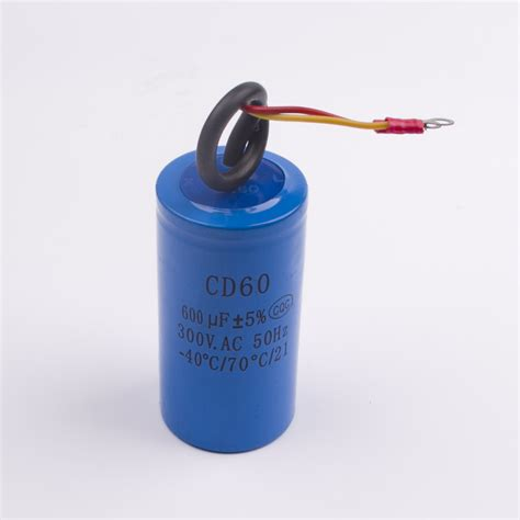 power tool capacitor staring capacitor two wires cd60 600uf 300v heavy duty electric motor starting capacitor in