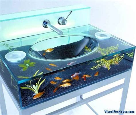 bathroom fish tank fish tank bathroom sink visualfunhouse