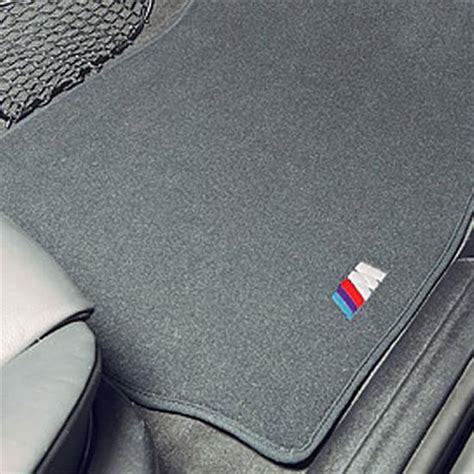 Floor Mats For Bmw by Shopbmwusa Bmw M Embroidered Floor Mats With Heel Pad