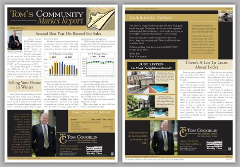 realtor newsletter templates real estate direct mail newsletter realtor newsletter
