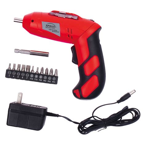 90 Degree Electric Screwdriver by Apollo Precision Tools 4 8 Volt Rechargeable Cordless