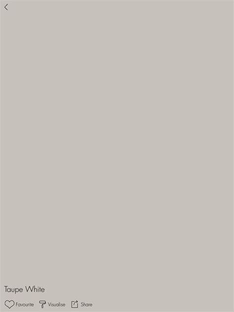 Dulux Taupe White (close match to Taubmans Taupe Grey used