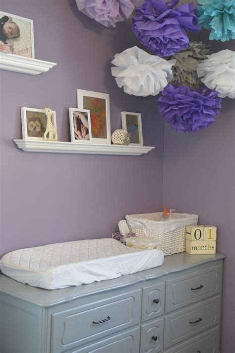 purple and grey room little miss a s purple grey and teal nursery project