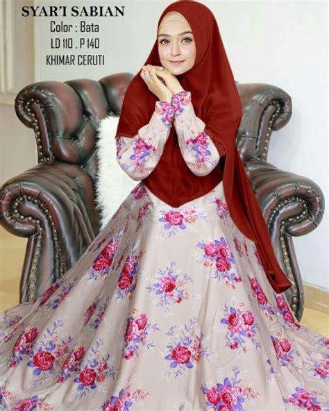 gamis maxmara sabian jilbab ceruti baju muslim modern