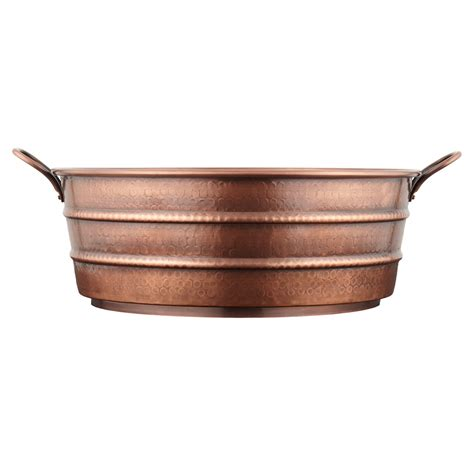 hammered copper vessel sink 18 quot copper vessel sink hammered copper handle