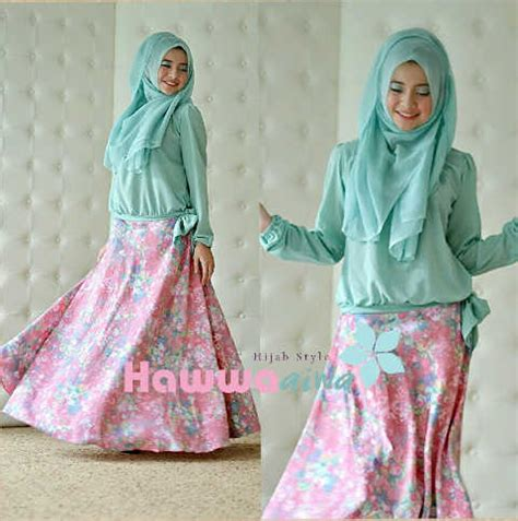 Gamis Zara zara set 5 mint baju muslim gamis modern