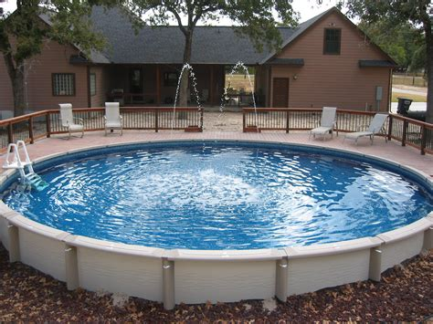 swimming pool decks large round above ground pool wilson county 30 ft