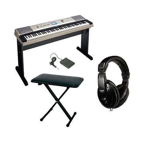 portable piano bench yamaha ypg 535 88 key portable grand piano w vrt