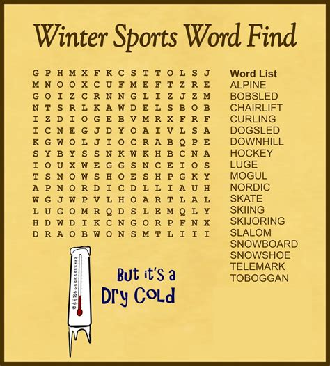 word find printable sports word search for activity shelter
