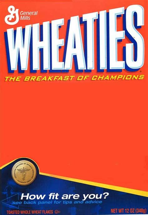 wheaties box template pin by angela brown on sports cheer