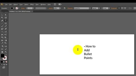 adobe illustrator cs6 youtube add bullet points in adobe illustrator cs6 cloudbloomers