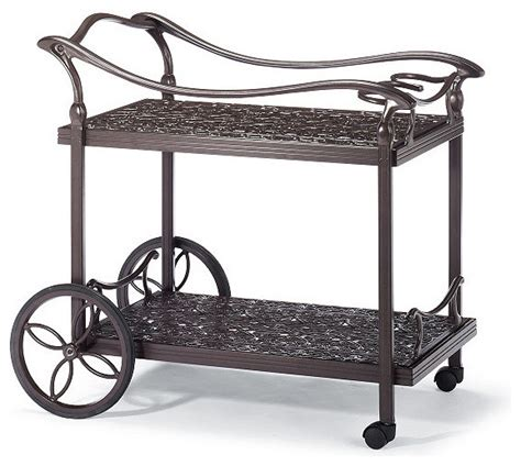 orleans serving cart frontgate patio furniture