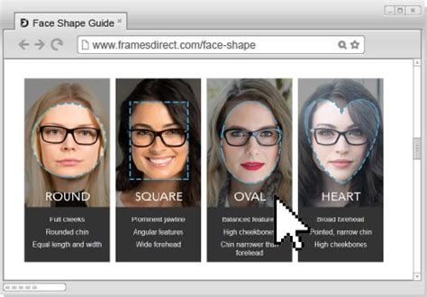determine face shape online how to buy eyeglasses online order frames with your