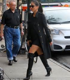 olivia munn boots olivia munn spices up outfit with sexy knee high boots