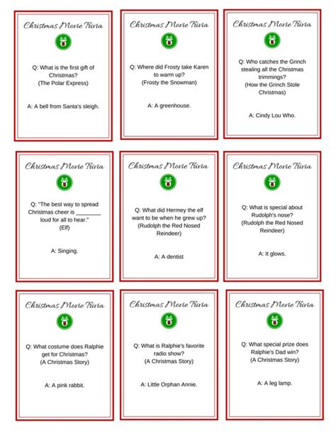printable holiday trivia games 17 best images about christmas trivia on pinterest