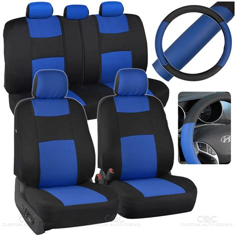 auto bench seat covers blue car seat covers set split bench option 5 headrests w