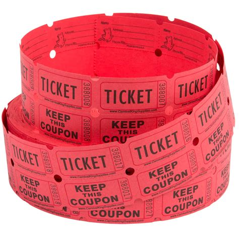 raffle tickets carnival king 2 part raffle tickets 2000 roll