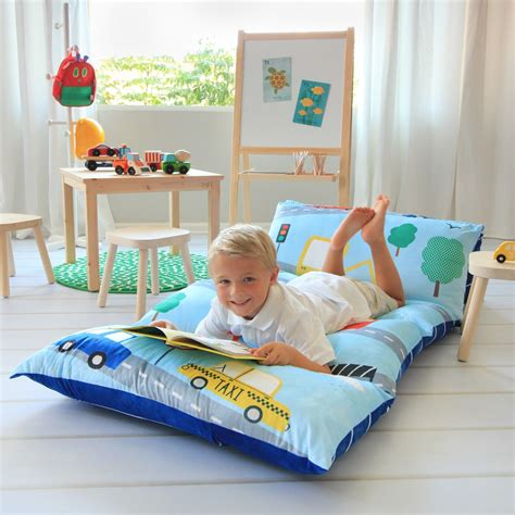 pillow bed for kids amazon com kid s floor pillow bed cover use as nap mat