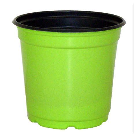 Green Planter Pots by 5 Quot Taller Gloss Tropical Green Flower Pot