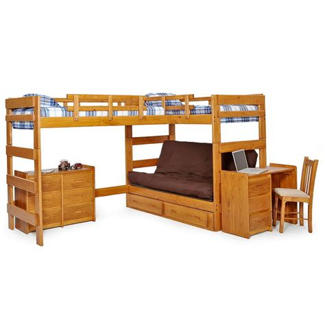 Futon Bunk Bed Wood Wooden Bunk Bed With Futon