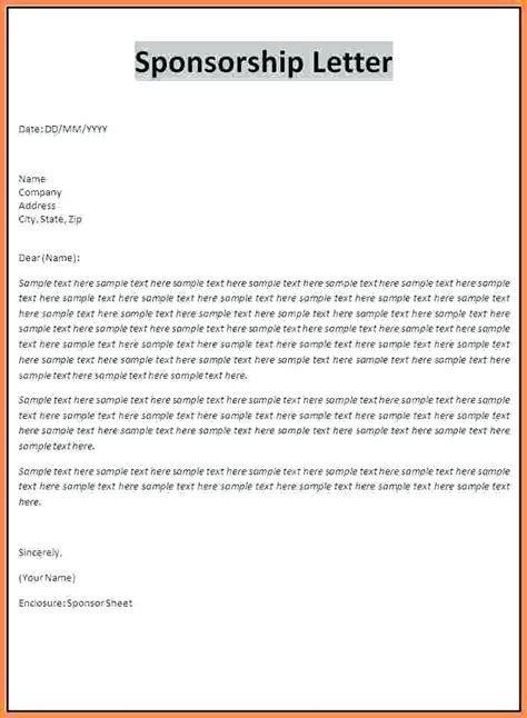 Sponsorship Letter For Student Visa sponsorship letter template sponsorship letter letter
