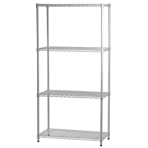 white epoxy coated wire shelving units