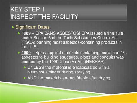 tsca section 6 wisconsin asbestos seminar session 502 steps 1 2