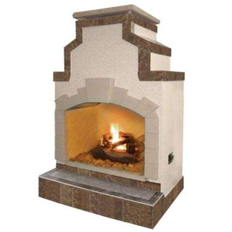 Home Depot Propane Fireplace by Cal 48 In Propane Gas Outdoor Fireplace In