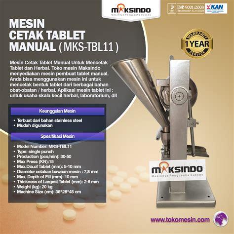Blender Manual Di Bandung jual mesin cetak tablet manual mks tbl11 di bandung