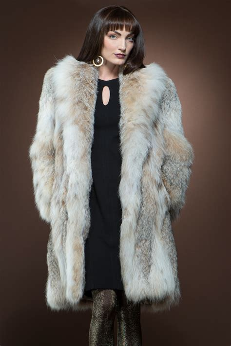 fur coat em el canadian lynx mid length fur coat ml furs