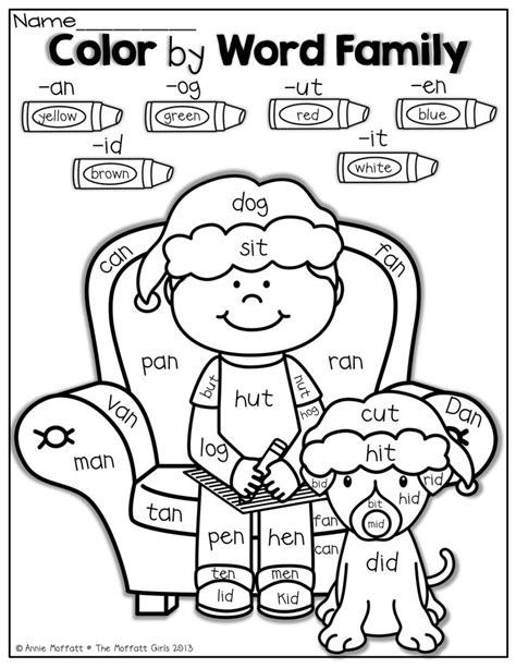family reading coloring page december no prep packet kindergarten kindergarten