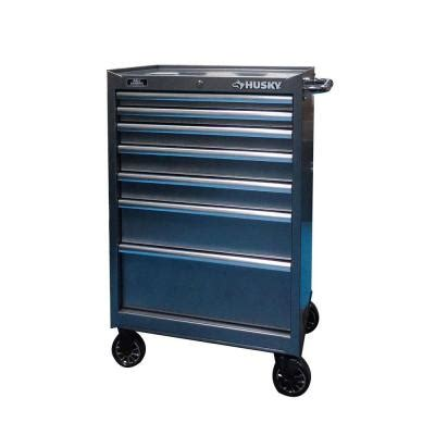 home depot tool cabinet husky 37 in 7 drawer tool cabinet in metallic silver