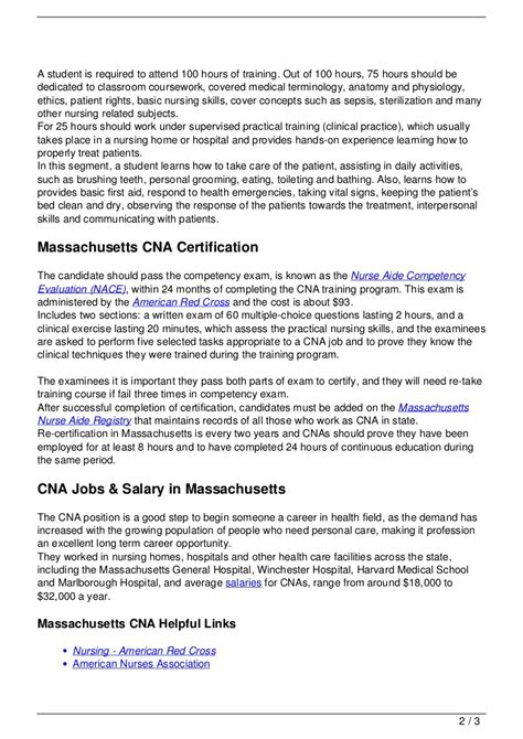 Cna License Criminal Record Cna In Massachusetts