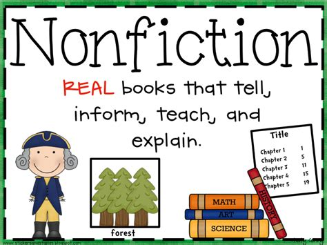 prose the of nonfiction books freebie fiction and nonfiction poster reading