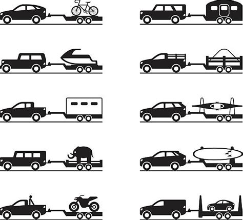 tow boat outline royalty free vehicle trailer clip art vector images