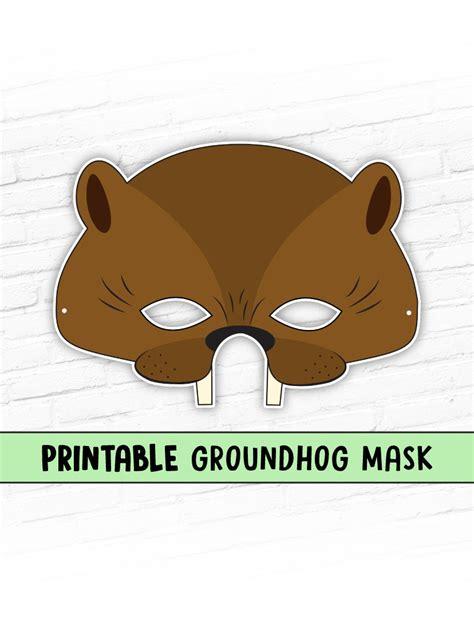 printable beaver mask groundhog mask childrens halloween mask party mask