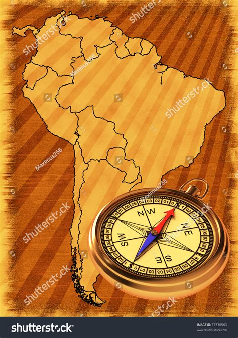 map of usa with compass map south america on background compass stock illustration