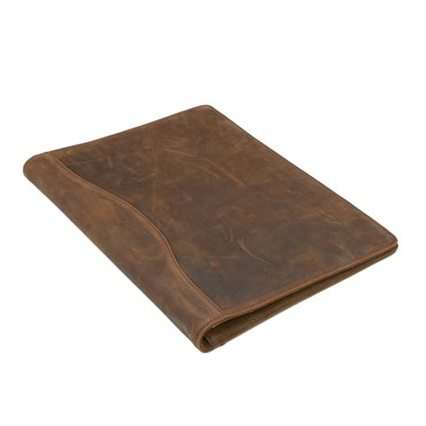 Leather Dimensions by Icarryalls Vintage Leather Padfolio With 3