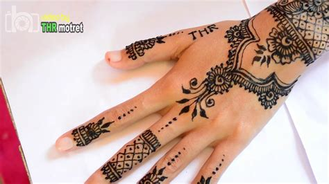 Henna Golecha Hitam Dan Maroon black henna design by anit tutorial mehndi henna hitam golecha step by step mudah simple dan