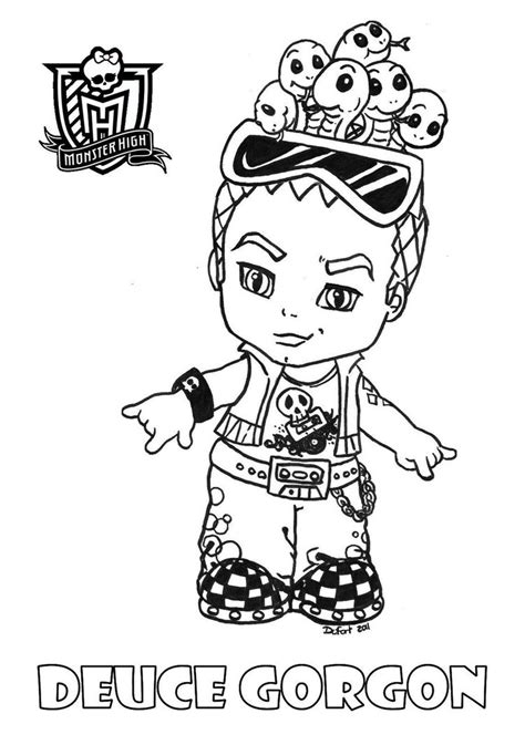 All About Monster High Dolls Baby Monster High Character High Baby Coloring Pages